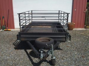 Our cage trailer is now a stock trailer.
