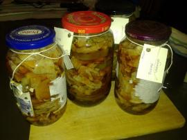 Pickled cabbage experiment.