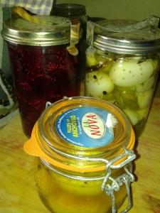 Three varieties of pickled eggs!