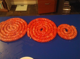 A total of nearly 5kg of sausage.