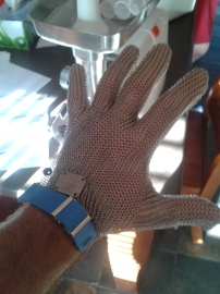 Linhda made me buy a chainmail glove. I don't need the protection, but chainmail is cool as hell!