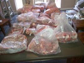 148kg of grass-fed, free-ranged, awesome!