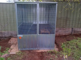 Our new chook shed. Fancy!
