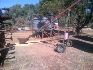... and this is what we use to get the grain out.