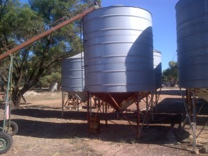 This is what we use to store our grain...
