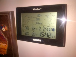 Believe it or not, it actually got about a half-degree hotter that day... :(