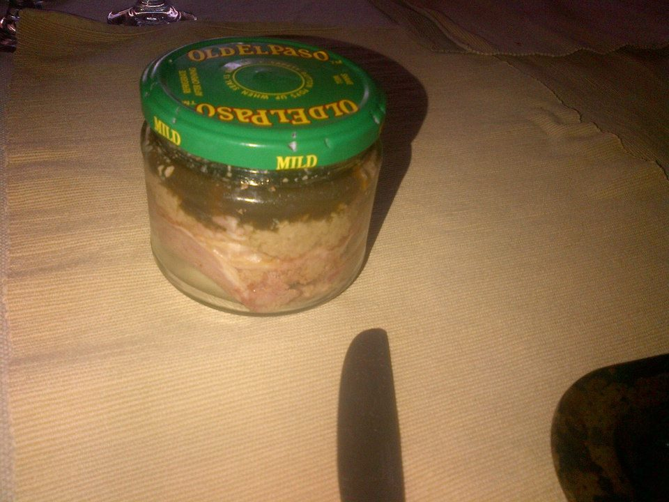 Jarred pate.  I added some spare aspic from the brawn.