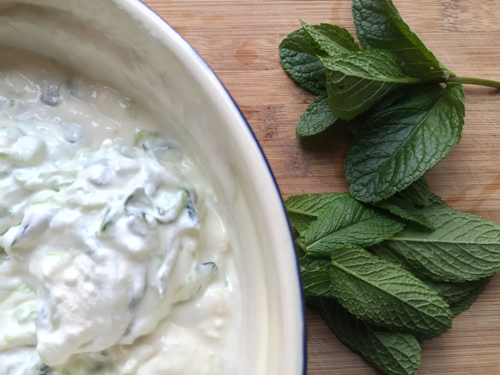 We love tzatziki at home. We'll eat it with almost anything.