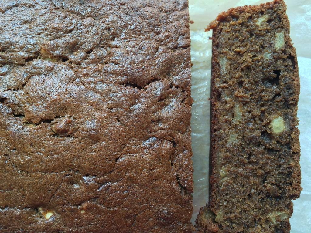 Banana bread. Apple, cinnamon and coffee version.