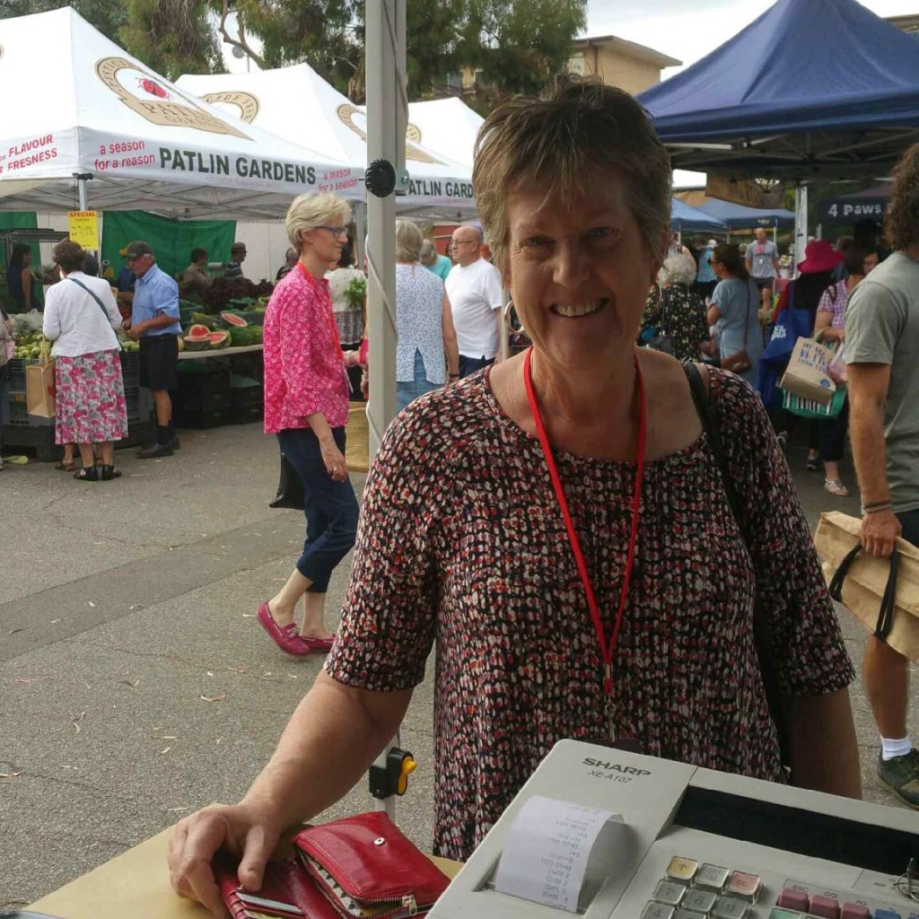 Our first customer was former Green senator Penny Wright! She's now a regular and loves the rasher bacon.