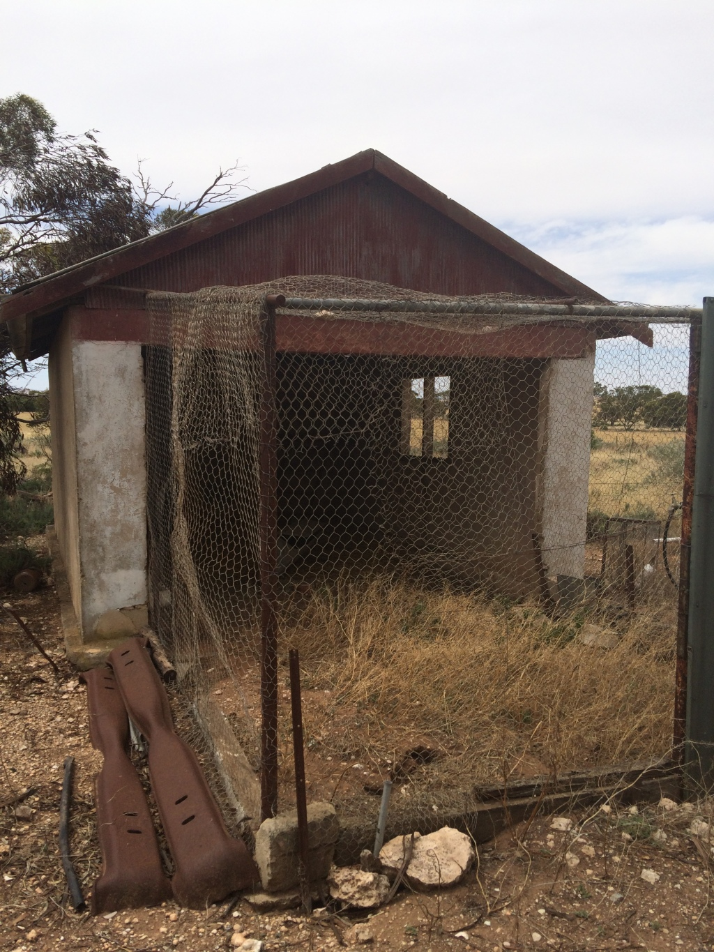 The last owners used this as a chook shed. I'm not sure what it was originally, but there are other foundations around. It might've been part of an original house.